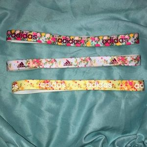 Flowered elastic headbands